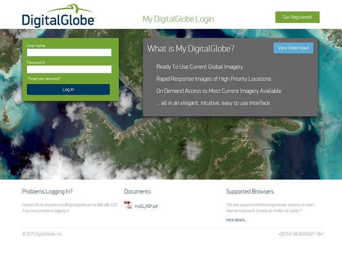 My DigitalGlobe Login