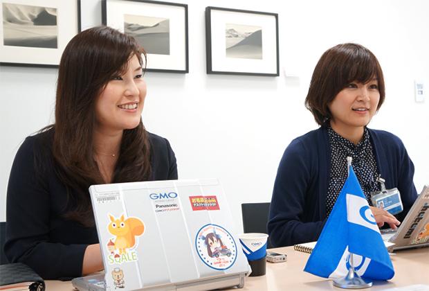 GMOインターネット株式会社 福井 敦子/石井 晴美氏のトップ画像